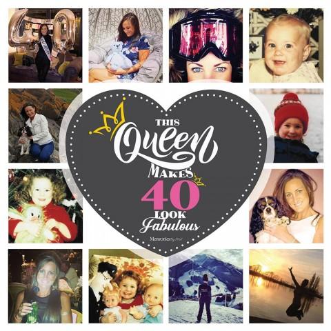 40 & Fabulous Photo Blanket