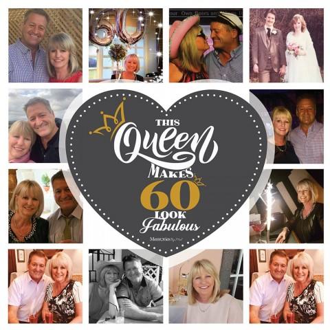 60 & Fabulous Photo Blanket