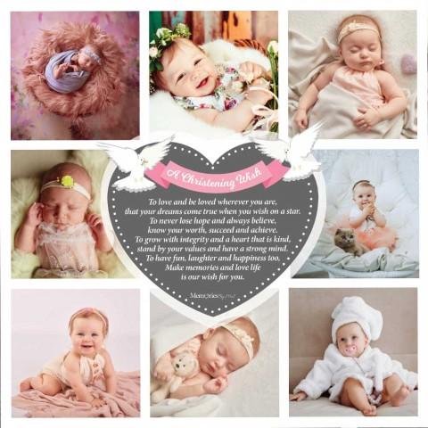 A Christening Wish Girl Photo Blanket
