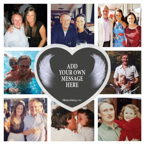Add Your Own Message In Memory Photo Blanket