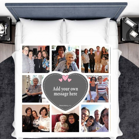 Add Your Own Message Photo Blanket (8 Photos)