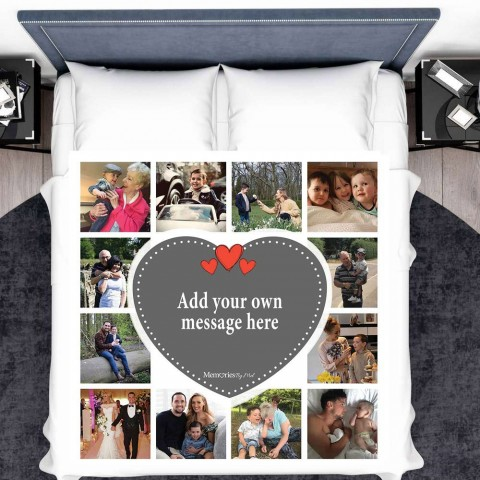 Add Your Own Message Photo Blanket (12 Photos)