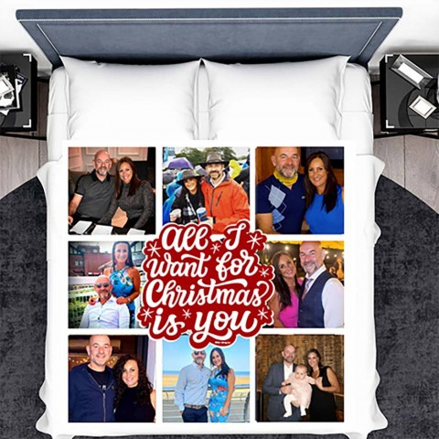 All I Want For Xmas Photo Blanket