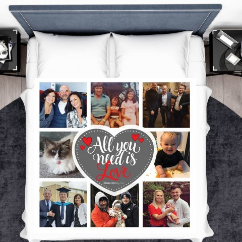 All You Need Is Love Photo Blanket