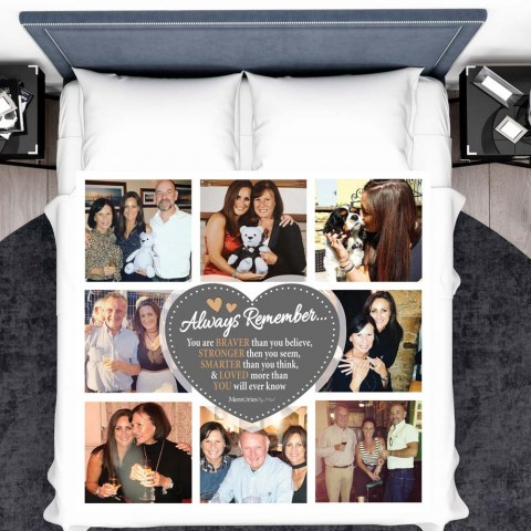 Always Remember Photo Blanket