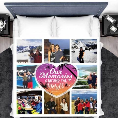 Around The World Photo Blanket