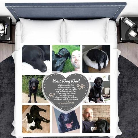 Best Dog Dad Photo Blanket