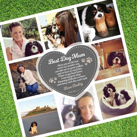 Best Dog Mum Photo Blanket