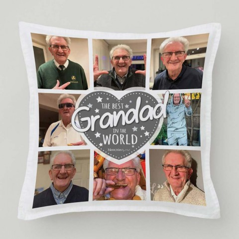 Best Grandad Photo Cushion