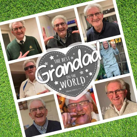 Best Grandad Photo Blanket