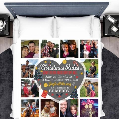 Christmas Rules Photo Blanket (12 Photos)