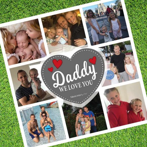 Daddy We Love You Photo Blanket
