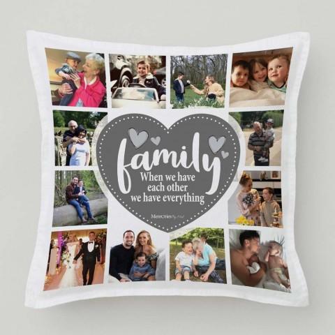 Family Photo Cushion (12 Photos)