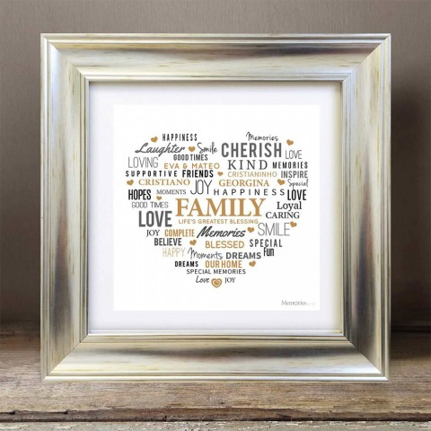 Love Heart With No Photo - Word Art Frame