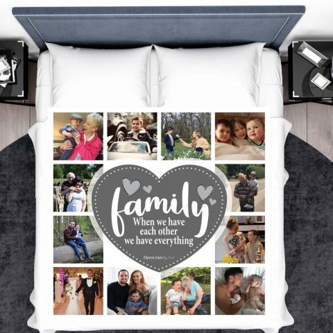 Family Photo Blanket (12 Photos)