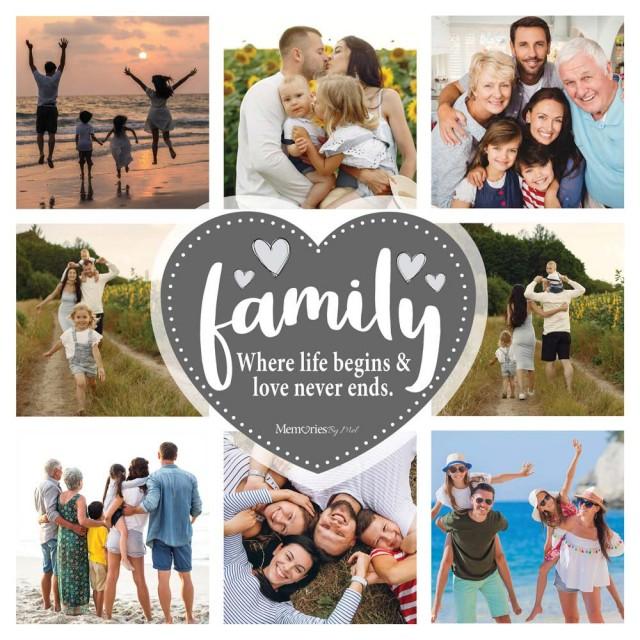 Family Photo Blanket (8 Photos)