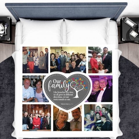 Family Tree Photo Blanket