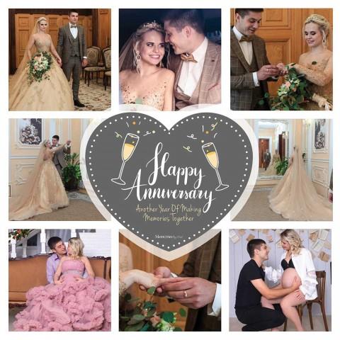 Happy Anniversary Photo Blanket