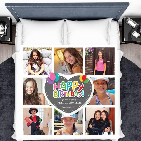 Happy Birthday Photo Blanket