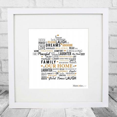 Home Word Art Frame