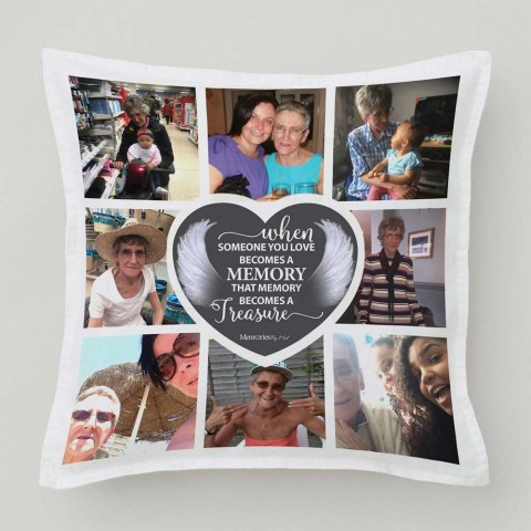 In Memory Treasure Photo Cushion