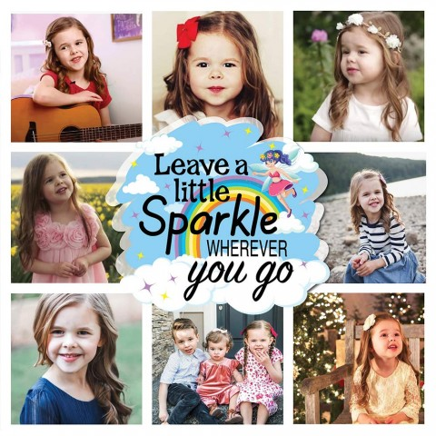 Leave A Little Sparkle Photo Blanket