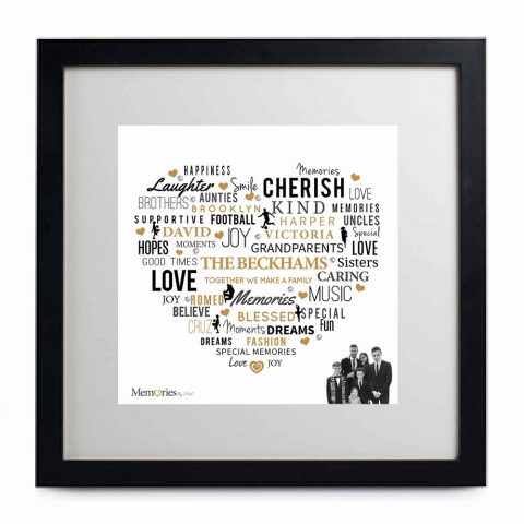 Love Heart With Photo - Word Art Frame