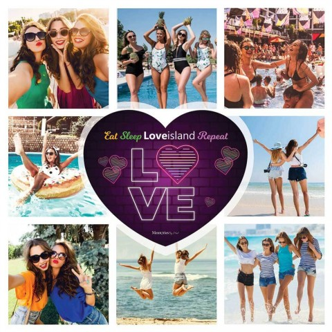 Love Island Photo Blanket