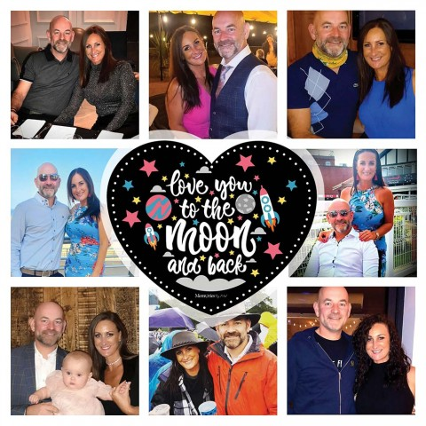 Love You To The Moon And Back Photo Blanket