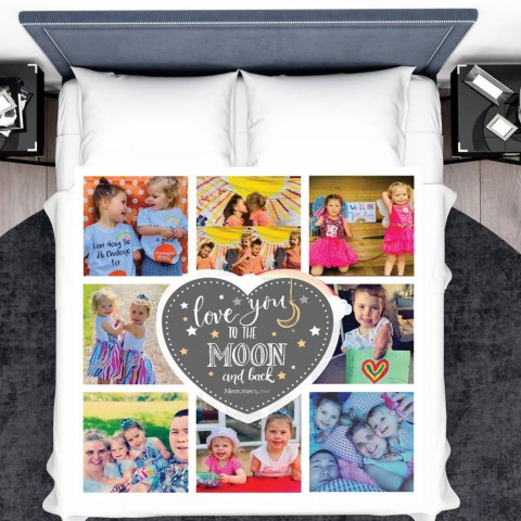 Love You To The Moon Photo Blanket