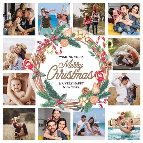 Merry Christmas Photo Blanket