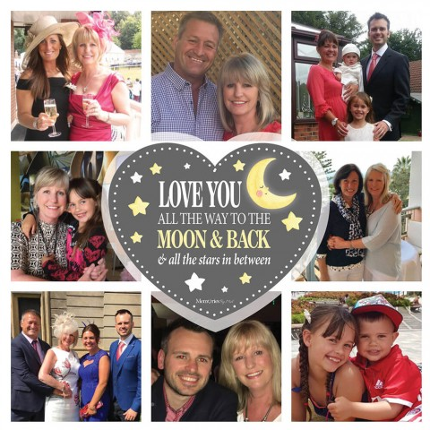 Love You To The Moon & Back Photo Blanket