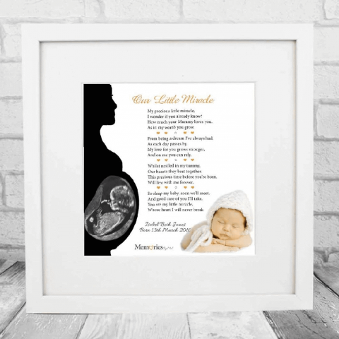 My Little Miracle Baby Scan & Photo Frame