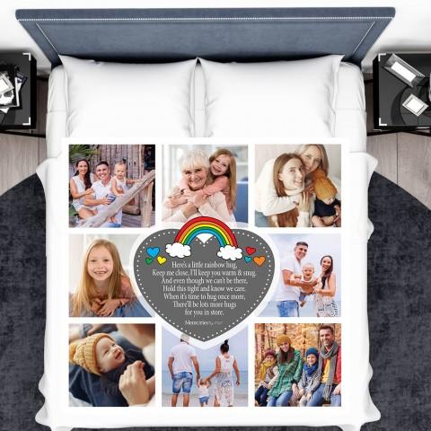 Rainbow Hug Photo Blanket