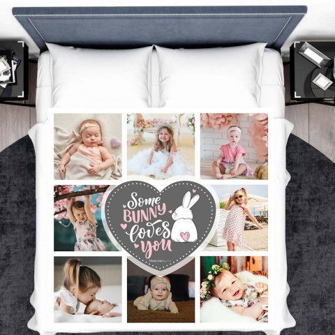 Some Bunny Loves You Photo Blanket