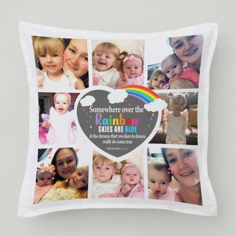 Somewhere Over The Rainbow Photo Cushion