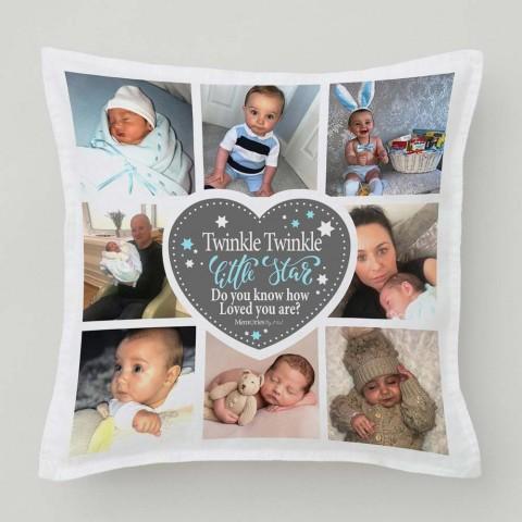 Twinkle Twinkle Blue Photo Cushion