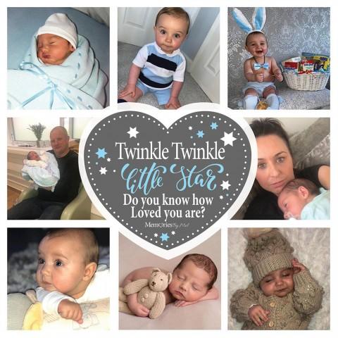 Twinkle Twinkle Blue Photo Blanket