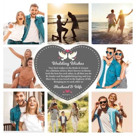 Wedding Wishes Photo Blanket
